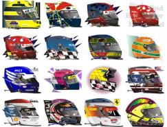 23款赛车手头盔矢量素材