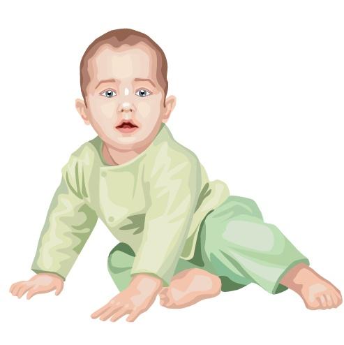可爱婴儿矢量素材(3)