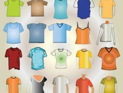 20款T恤模板矢量素材