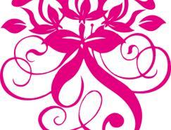 玫瑰花纹矢量素材