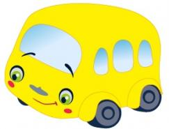 卡通公共汽车矢量素材