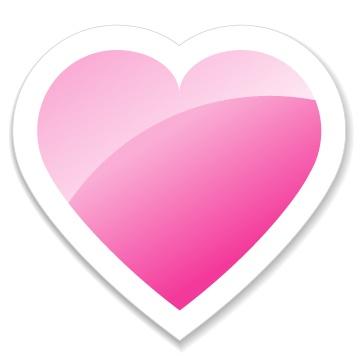 粉红色心形图案矢量素材