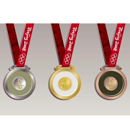 北京奥运会奖牌矢量素材图片