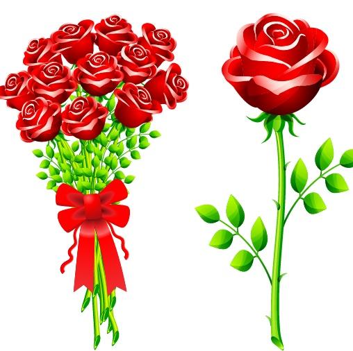 关键字:矢量素材,一只玫瑰