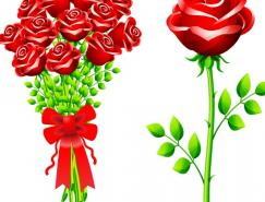 玫瑰矢量素材