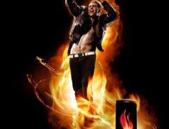 可口可乐Burn能量饮料海报设计