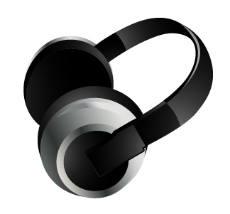 耳机矢量素材