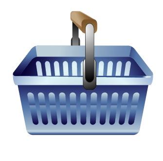 超市购物篮矢量素; 关键字:矢量素材,超市购物篮, ai格式; 矢量