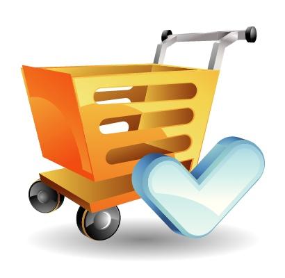 超市购物推车矢量素材