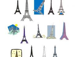 埃菲尔铁塔矢量素材