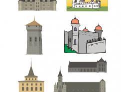 古城堡矢量素材