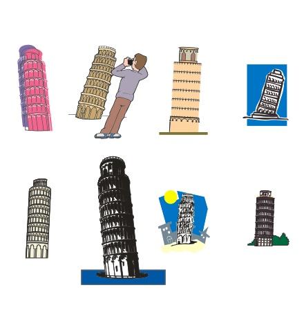 关键字:矢量素材,比萨斜塔,世界名胜, eps格式