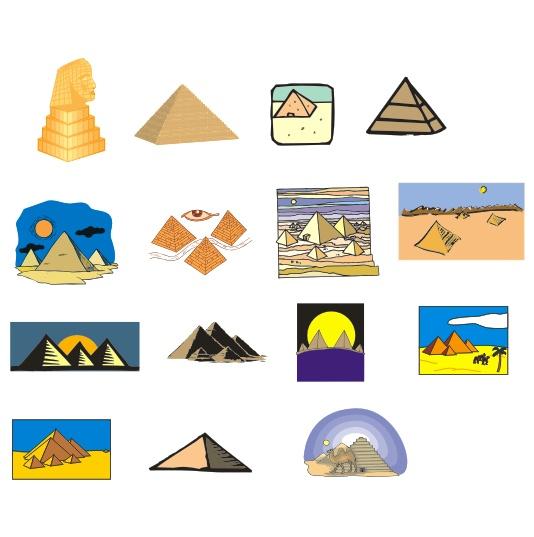 埃及金字塔矢量素材