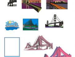 美国金门大桥矢量素材