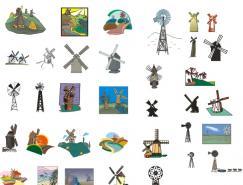 数款风车矢量素材
