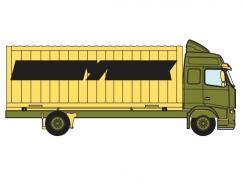 箱式货车矢量素材
