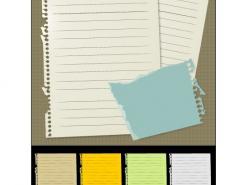 纸张矢量素材