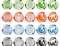 绿色环保地球矢量素材