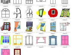 各式窗户矢量素材
