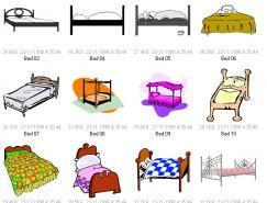 30款床矢量素材