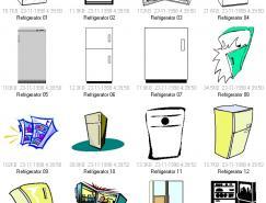 冰箱矢量素材
