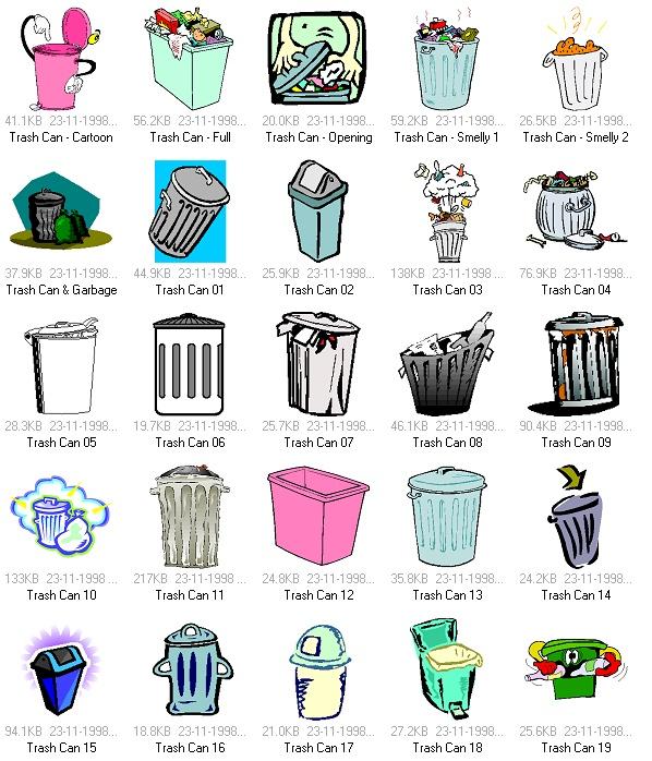 50款垃圾桶矢量素材