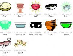 碗矢量素材