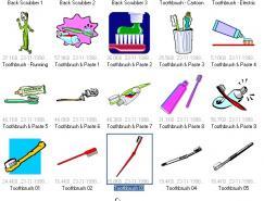 牙刷矢量素材