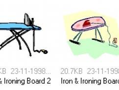 熨衣板矢量素材