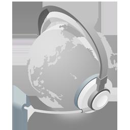 带耳机的地球png图标 设计之家
