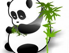 可爱熊猫和竹子PNG图标512x512
