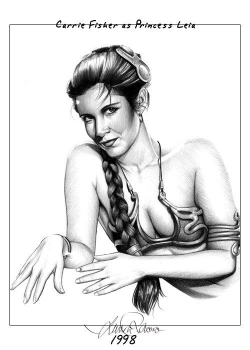 LauraRacero明星素描插画欣赏