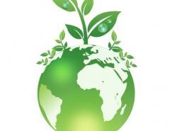 绿色地球矢量素材
