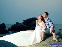 Photoshop打造梦幻色彩的夜景婚纱照