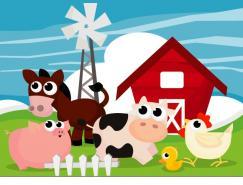卡通农场矢量素材