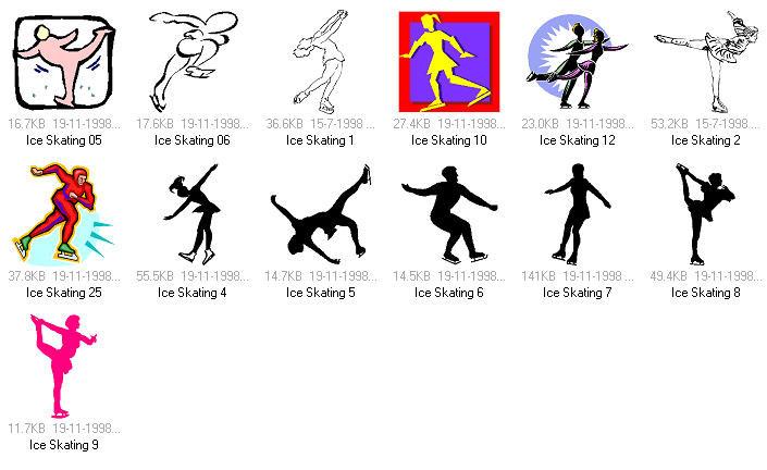 体育项目:花样滑冰矢量素材