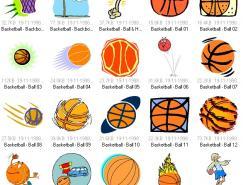 体育项目:篮球运动矢量素