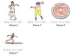 体育项目:铁饼运动矢量素