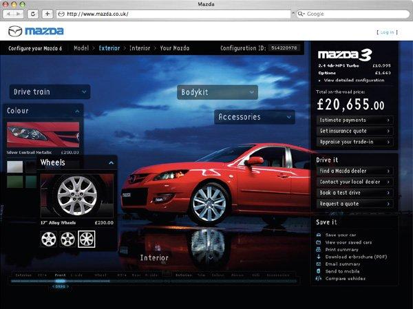 MAZDA汽车网站界面欣赏