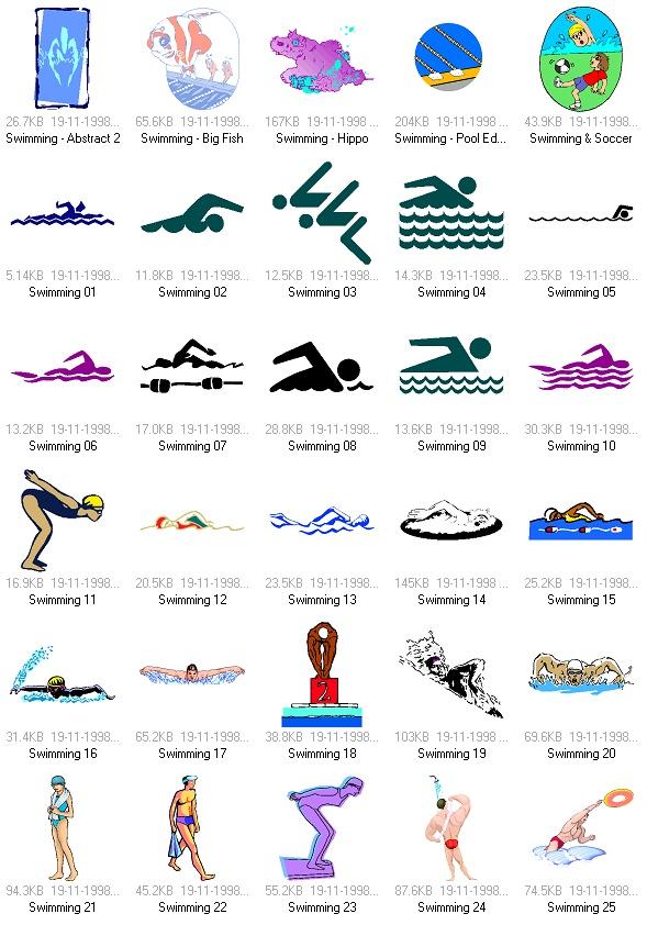 体育项目: 游泳运动矢量素材