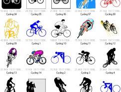 体育项目:自行车运动矢量素材