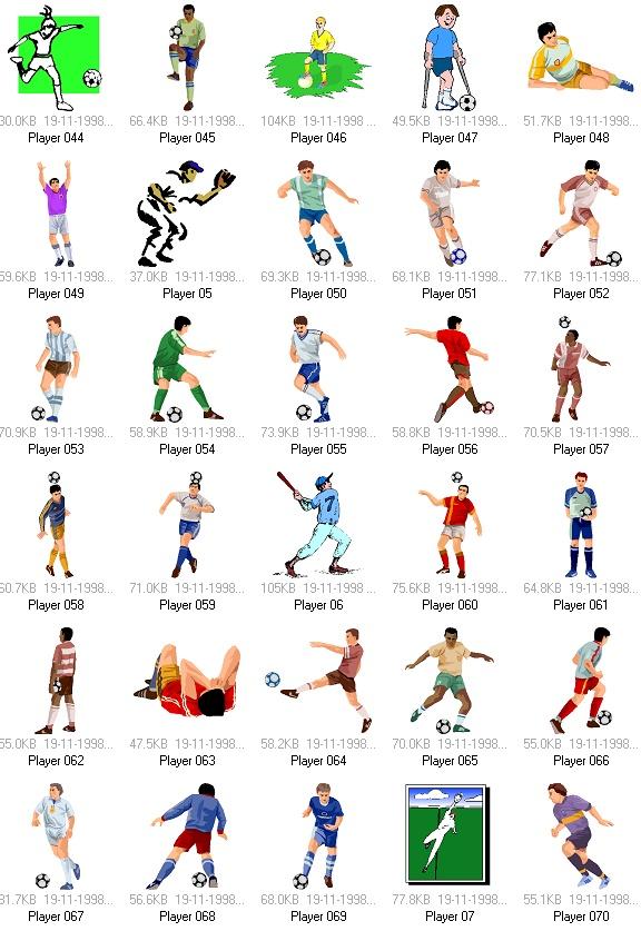体育项目: 足球运动矢量素材(2)-体育运动矢量素材-设计素材-设计之家