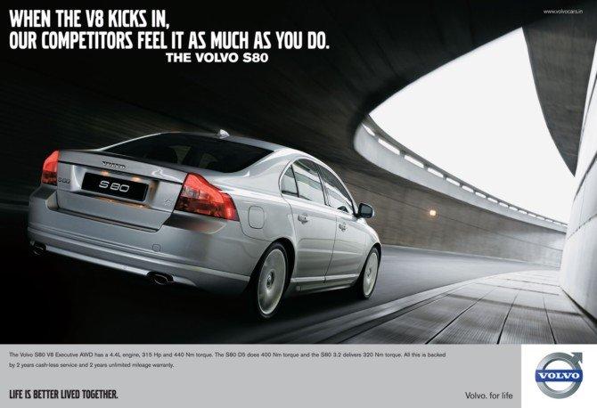 volvo s80 轿车平面广告 欣赏 设计之家高清图片