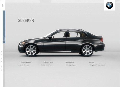 BMW宝马3系网页界面设计