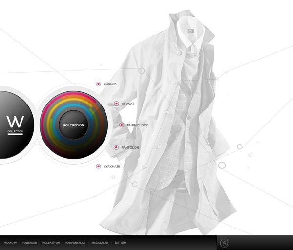 品牌服装网站设计欣赏