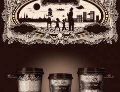 coffeetime咖啡杯贴设计