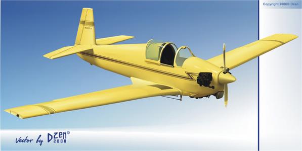 老式飞机矢量素材 - 设计之家
