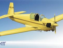 老式飞机矢量素材