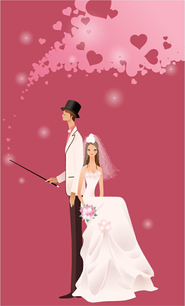 关键字: 矢量素材,韩国素材,婚纱新娘,新郎,婚纱素材,ai格式