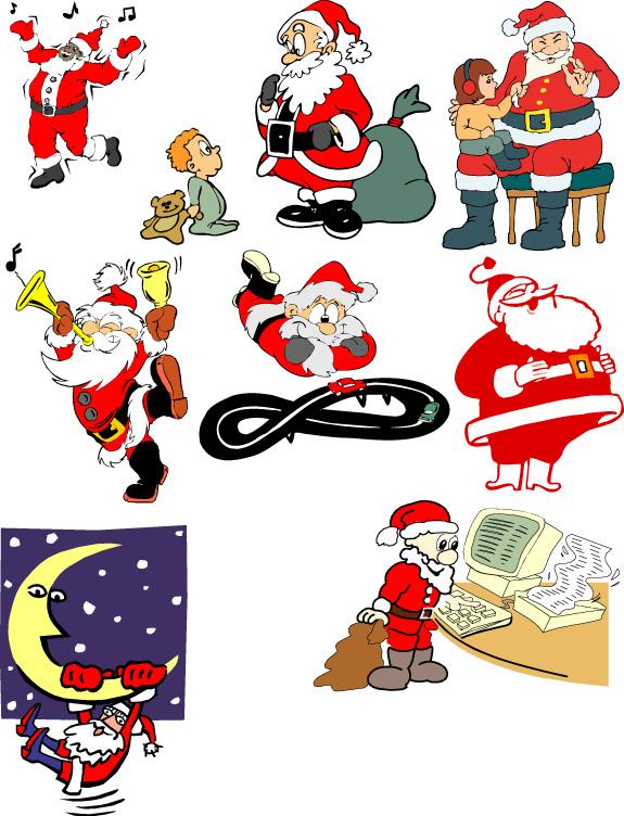 多款圣诞老人矢量素材(3)